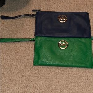 2 Micheal Kors clutches